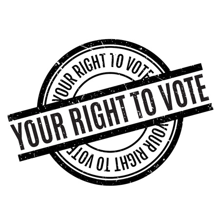 fairly: Your Right To Vote rubber stamp. Grunge design with dust scratches. Effects can be easily removed for a clean, crisp look. Color is easily changed.