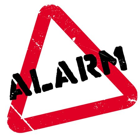 alarming: Alarm rubber stamp. Grunge design with dust scratches. Effects can be easily removed for a clean, crisp look. Color is easily changed. Stock Photo