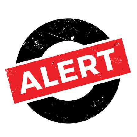be alert: Alert rubber stamp. Grunge design with dust scratches. Effects can be easily removed for a clean, crisp look. Color is easily changed. Stock Photo