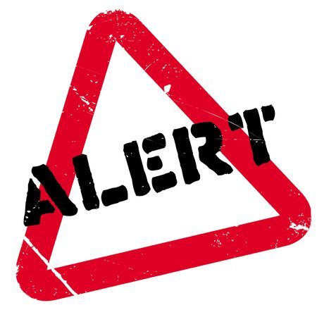 Alert rubber stamp. Grunge design with dust scratches. Effects can be easily removed for a clean, crisp look. Color is easily changed. Stock Photo