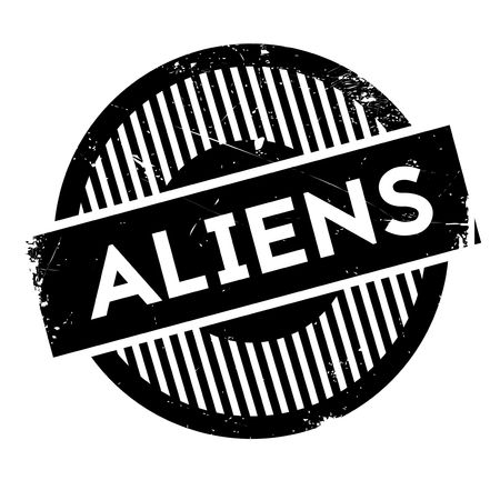 abducted: Aliens rubber stamp. Grunge design with dust scratches. Effects can be easily removed for a clean, crisp look. Color is easily changed.