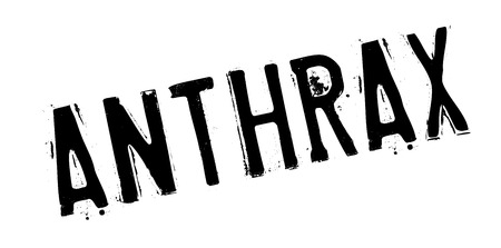 Anthrax rubber stamp. Grunge design with dust scratches. Effects can be easily removed for a clean, crisp look. Color is easily changed. Stock Photo