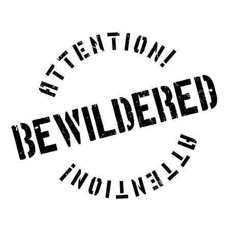 bewilder: Bewildered rubber stamp. Grunge design with dust scratches. Effects can be easily removed for a clean, crisp look. Color is easily changed. Stock Photo