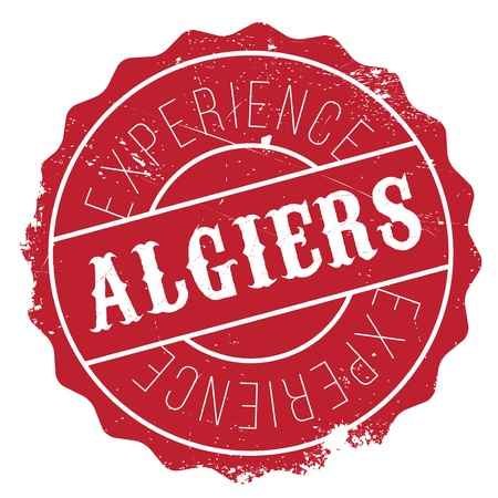 Algiers stamp. Grunge design with dust scratches. Effects can be easily removed for a clean, crisp look. Color is easily changed. Stock Photo