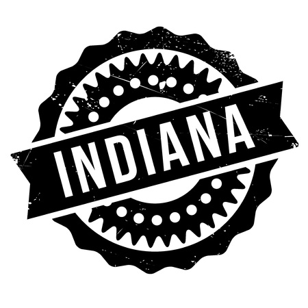 indianapolis: Indiana stamp. Grunge design with dust scratches. Effects can be easily removed for a clean, crisp look. Color is easily changed. Stock Photo