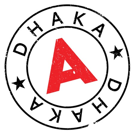 Dhaka stamp. Grunge design with dust scratches. Effects can be easily removed for a clean, crisp look. Color is easily changed. Stock Photo