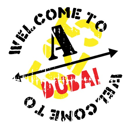 Dubai stamp. Grunge design with dust scratches. Effects can be easily removed for a clean, crisp look. Color is easily changed.