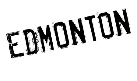 Edmonton stamp. Grunge design with dust scratches. Effects can be easily removed for a clean, crisp look. Color is easily changed. Stock Photo