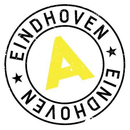 Eindhoven stamp. Grunge design with dust scratches. Effects can be easily removed for a clean, crisp look. Color is easily changed.