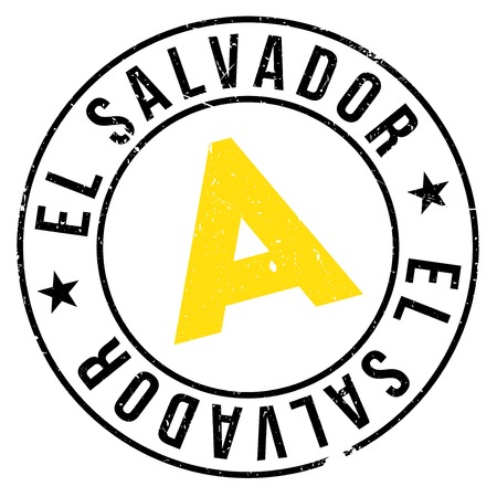 bandera de el salvador: El Salvador stamp. Grunge design with dust scratches. Effects can be easily removed for a clean, crisp look. Color is easily changed.