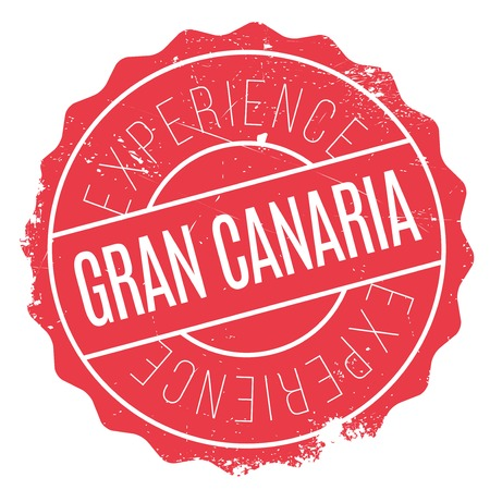 Gran Canaria stamp. Grunge design with dust scratches. Effects can be easily removed for a clean, crisp look. Color is easily changed.