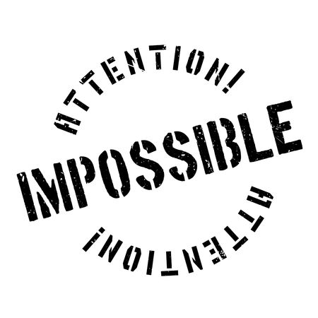 inconceivable: Impossible rubber stamp. Grunge design with dust scratches. Effects can be easily removed for a clean, crisp look. Color is easily changed.