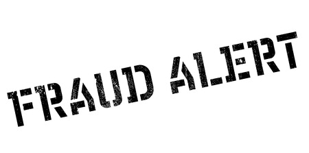 trickery: Fraud alert rubber stamp. Grunge design with dust scratches. Effects can be easily removed for a clean, crisp look. Color is easily changed. Stock Photo