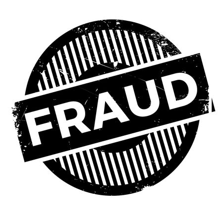 Fraud rubber stamp. Grunge design with dust scratches. Effects can be easily removed for a clean, crisp look. Color is easily changed.