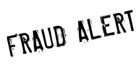 artifice: Fraud alert rubber stamp. Grunge design with dust scratches. Effects can be easily removed for a clean, crisp look. Color is easily changed. Stock Photo