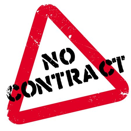 No contract rubber stamp. Grunge design with dust scratches. Effects can be easily removed for a clean, crisp look. Color is easily changed. Stock Photo