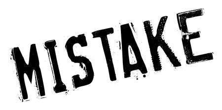 misconception: Mistake rubber stamp. Grunge design with dust scratches. Effects can be easily removed for a clean, crisp look. Color is easily changed.