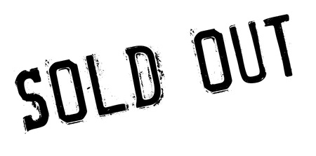 Sold out rubber stamp. Grunge design with dust scratches. Effects can be easily removed for a clean, crisp look. Color is easily changed. Stock Photo
