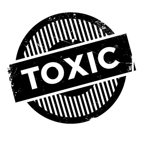 transact: Toxic rubber stamp. Grunge design with dust scratches. Effects can be easily removed for a clean, crisp look. Color is easily changed. Stock Photo