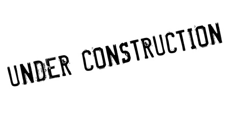 insufficient: Under construction rubber stamp. Grunge design with dust scratches. Effects can be easily removed for a clean, crisp look. Color is easily changed. Stock Photo