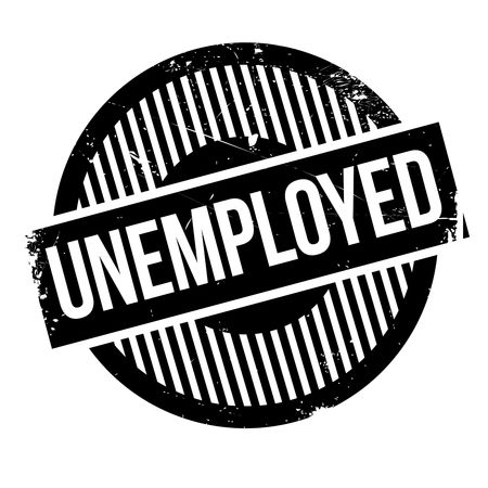 Unemployed rubber stamp. Grunge design with dust scratches. Effects can be easily removed for a clean, crisp look. Color is easily changed. Stock Photo