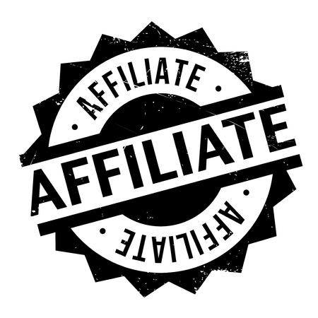 conjoin: Affiliate stamp. Grunge design with dust scratches. Effects can be easily removed for a clean, crisp look. Color is easily changed. Stock Photo