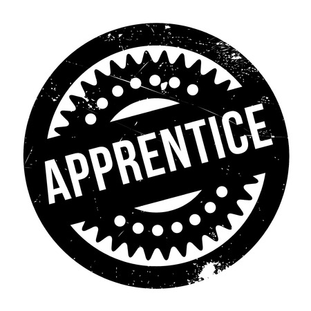 apprentice: Apprentice stamp. Grunge design with dust scratches. Effects can be easily removed for a clean, crisp look. Color is easily changed.