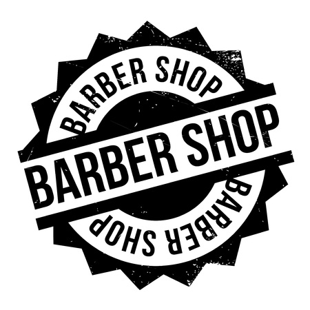 coiffeur: Barber shop stamp. Grunge design with dust scratches. Effects can be easily removed for a clean, crisp look. Color is easily changed.