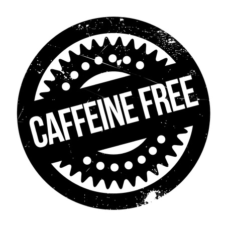 Caffeine free stamp. Grunge design with dust scratches. Effects can be easily removed for a clean, crisp look. Color is easily changed.