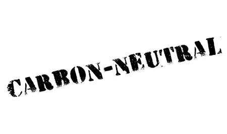 carbon neutral: Carbon-neutral stamp. Grunge design with dust scratches. Effects can be easily removed for a clean, crisp look. Color is easily changed. Illustration