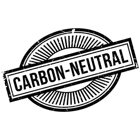 unbiased: Carbon-neutral stamp. Grunge design with dust scratches. Effects can be easily removed for a clean, crisp look. Color is easily changed. Stock Photo