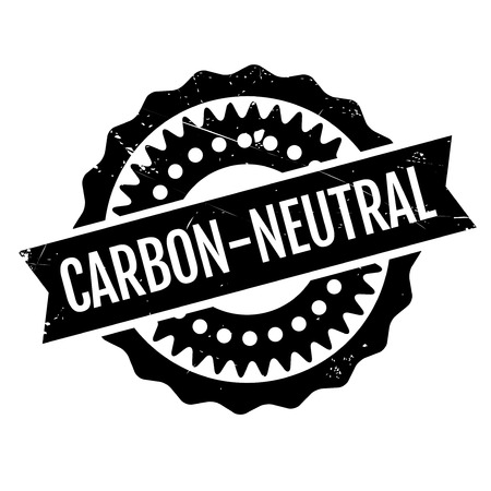 co2 neutral: Carbon-neutral stamp. Grunge design with dust scratches. Effects can be easily removed for a clean, crisp look. Color is easily changed. Stock Photo