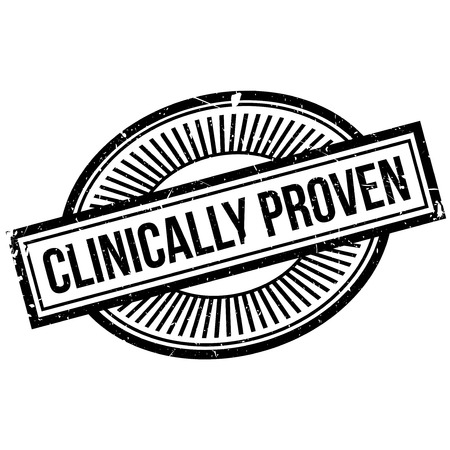 clinically: Clinically proven stamp. Grunge design with dust scratches. Effects can be easily removed for a clean, crisp look. Color is easily changed. Stock Photo