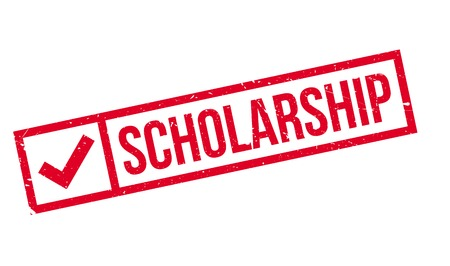 scholarship: Scholarship stamp. Grunge design with dust scratches. Effects can be easily removed for a clean, crisp look. Color is easily changed.