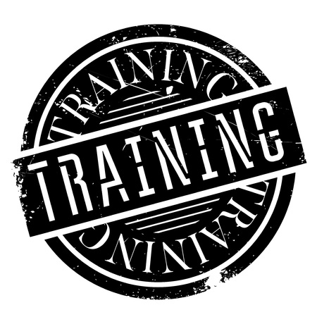 Training stamp. Grunge design with dust scratches. Effects can be easily removed for a clean, crisp look. Color is easily changed. Stock Photo