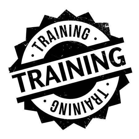 grounding: Training stamp. Grunge design with dust scratches. Effects can be easily removed for a clean, crisp look. Color is easily changed. Stock Photo