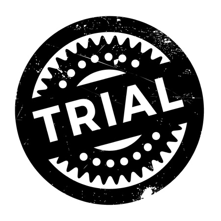 undertaking: Trial stamp. Grunge design with dust scratches. Effects can be easily removed for a clean, crisp look. Color is easily changed.