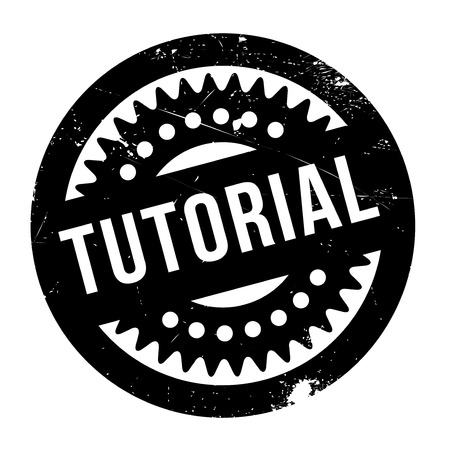 didactic: Tutorial stamp. Grunge design with dust scratches. Effects can be easily removed for a clean, crisp look. Color is easily changed. Stock Photo