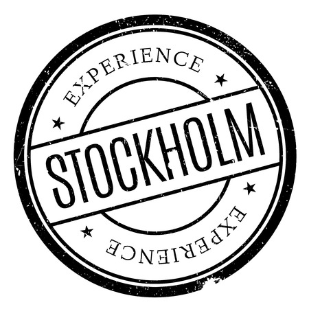 scandinavia: Stockholm stamp. Grunge design with dust scratches. Effects can be easily removed for a clean, crisp look. Color is easily changed.
