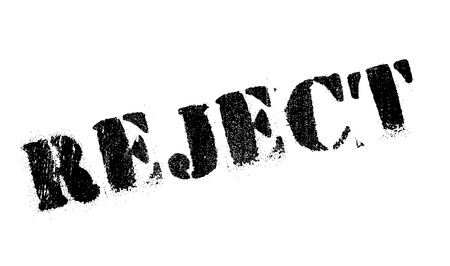 reject: Reject stamp. Grunge design with dust scratches. Effects can be easily removed for a clean, crisp look. Color is easily changed. Illustration