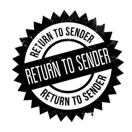 sender: Return to sender stamp. Grunge design with dust scratches. Effects can be easily removed for a clean, crisp look. Color is easily changed.