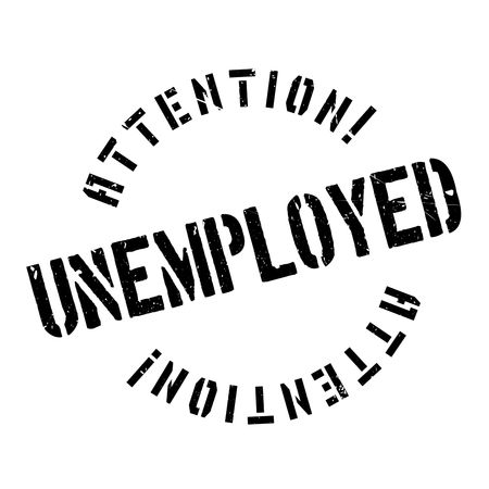 laid off: Unemployed rubber stamp. Grunge design with dust scratches. Effects can be easily removed for a clean, crisp look. Color is easily changed. Illustration