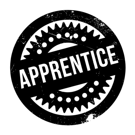 newcomer: Apprentice stamp. Grunge design with dust scratches. Effects can be easily removed for a clean, crisp look. Color is easily changed.