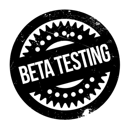 tester: Beta testing stamp. Grunge design with dust scratches. Effects can be easily removed for a clean, crisp look. Color is easily changed.