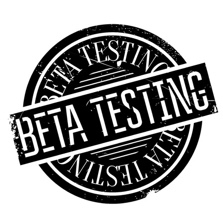 questioning: Beta testing stamp. Grunge design with dust scratches. Effects can be easily removed for a clean, crisp look. Color is easily changed.