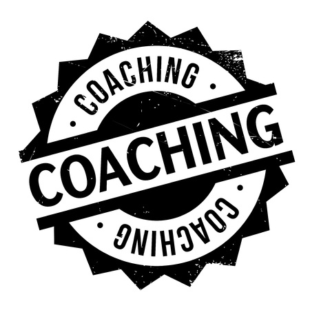 cram: Coaching stamp. Grunge design with dust scratches. Effects can be easily removed for a clean, crisp look. Color is easily changed.