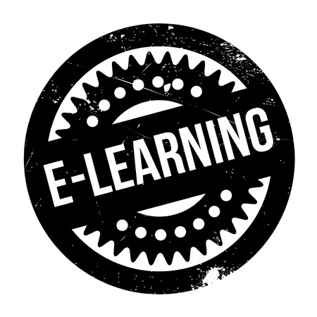 attainments: E-learning stamp. Grunge design with dust scratches. Effects can be easily removed for a clean, crisp look. Color is easily changed.