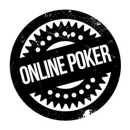 operative: Online poker stamp. Grunge design with dust scratches. Effects can be easily removed for a clean, crisp look. Color is easily changed.