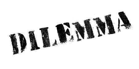 dilemma: Dilemma rubber stamp. Grunge design with dust scratches. Effects can be easily removed for a clean, crisp look. Color is easily changed.