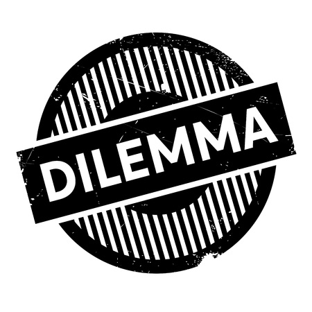 plight: Dilemma rubber stamp. Grunge design with dust scratches. Effects can be easily removed for a clean, crisp look. Color is easily changed.